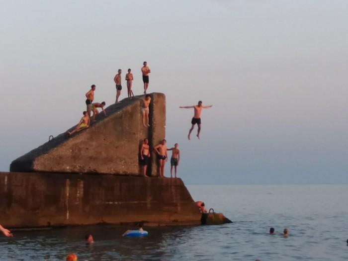 Парный прыжок Сочи, Прыжки в воду, Отпуск