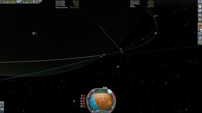 ЕВАНГЕЛИОН - полет к ИВ часть 2 - возвращение блудного шаттла Картинка из KSP, Kerbal Space Program, Ракетостроение, Космолет, Длиннопост