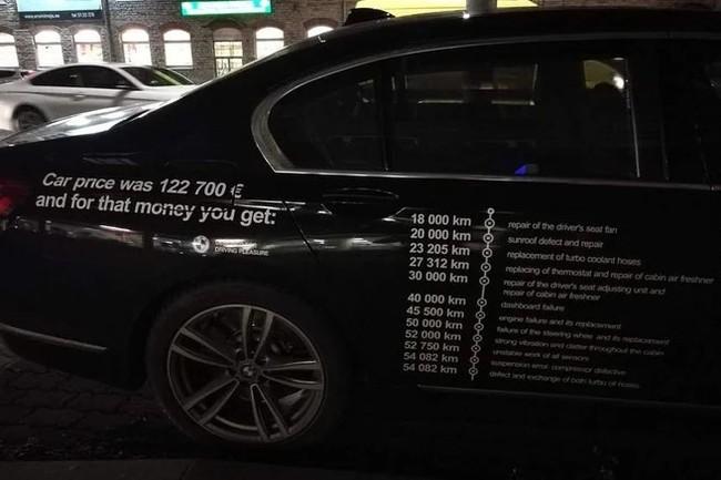 Владелец BMW расписал все поломки на двери автомобиля. BMW, Качество, Авто, Поломка