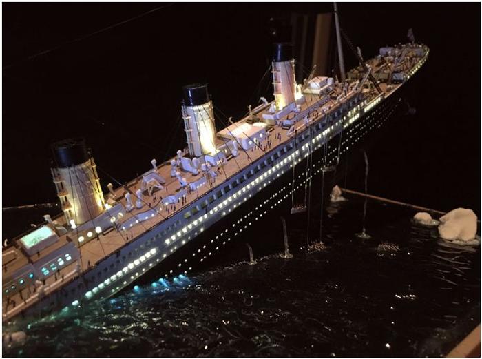 Крушение «Титаника» Стендовый моделизм, Крушение, Титаник, Фотография, Длиннопост