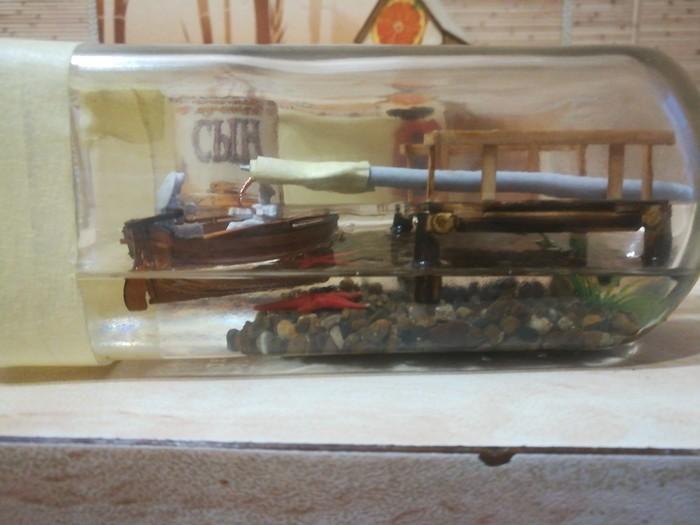 Продолжение лодки в бутылке Бутылка, Лодка, Модели, Длиннопост, Рукоделие