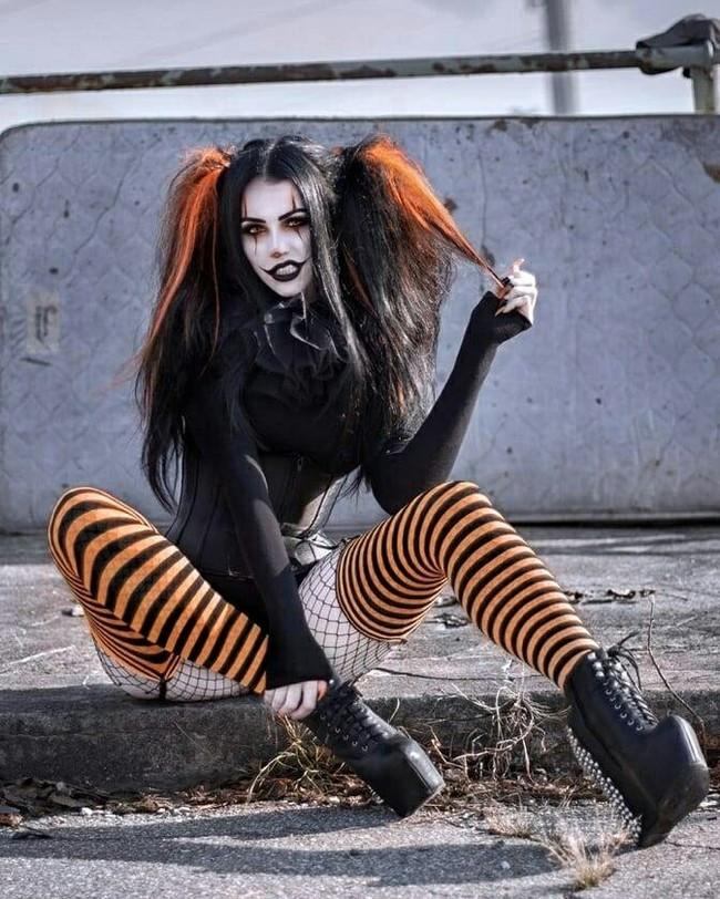 Harley Quinn Helloween version DC Comics, Харли Квинн, Хэллоуин, Длиннопост, Девушки, Косплей