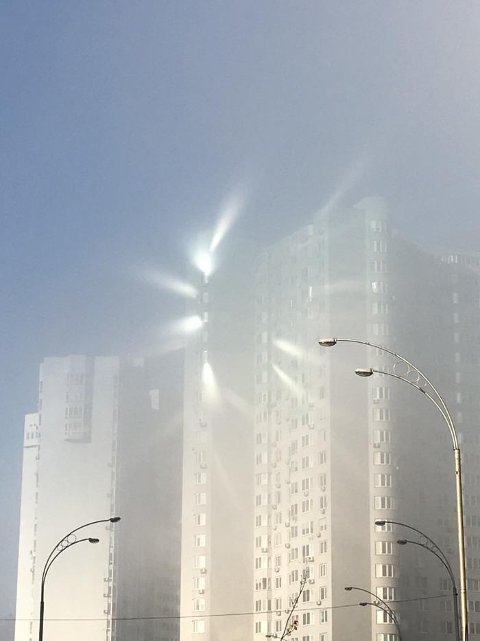 Похоже там кого-то призвали Туман, Отражение, Природа, Длиннопост, Дом