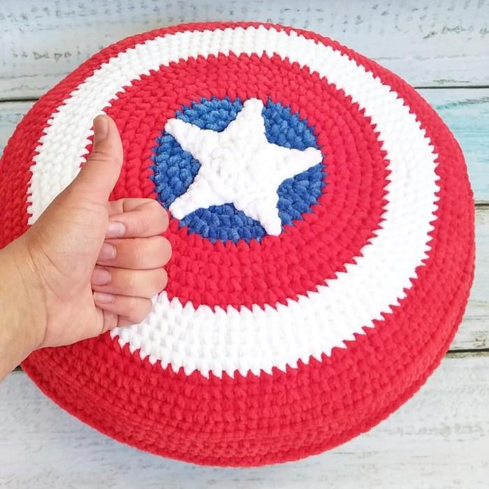 Плюшевый щит Капитана Америка. Как вам? Новогоняя елка, Дети, Мягкая игрушка, Подарок, Handmade, Супергерои, Мстители, Marvel, Длиннопост