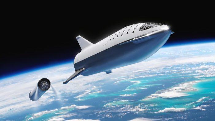 SpaceX разрабатывает мини версию космического корабля BFR для тестов Spacex, BFR, Илон Маск, Космос, Техника, Технологии, Falcon 9