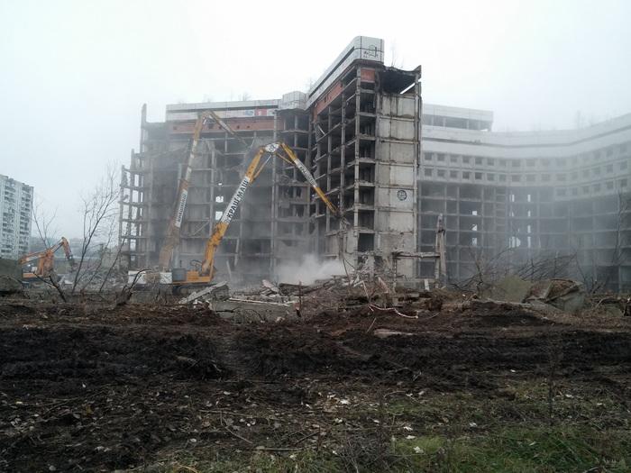 Снос Ховринской больницы Снос, Ховринская больница, Видео