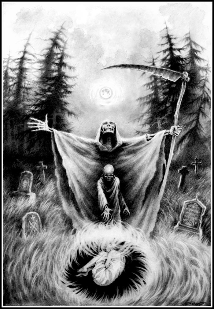Иллюстрация SergoZ, Иллюстрации, Рисунок, Творчество, Павел Пламенев, Истории, Смерть