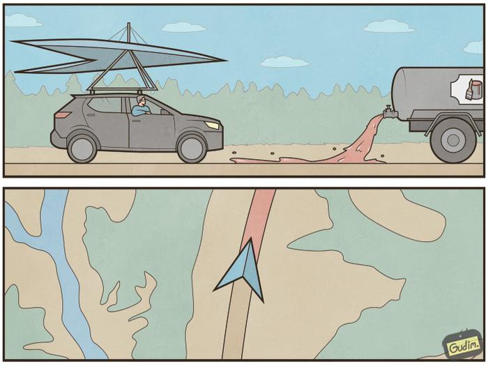По навигатору