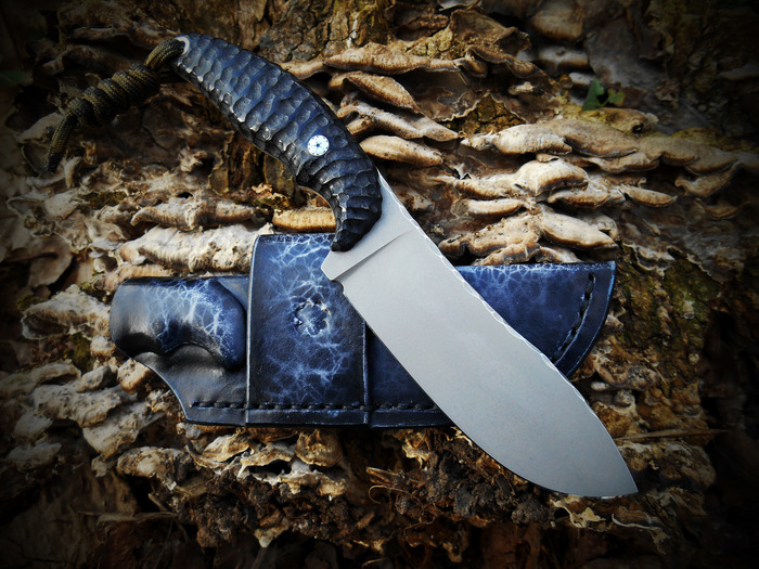 """Нож """"Skinner"""" – изделие ручной работы из металла и натуральной кожи Handmade, Ручная работа, EDC, Нож, Фиксед, Скиннер, Ножны, Длиннопост"""