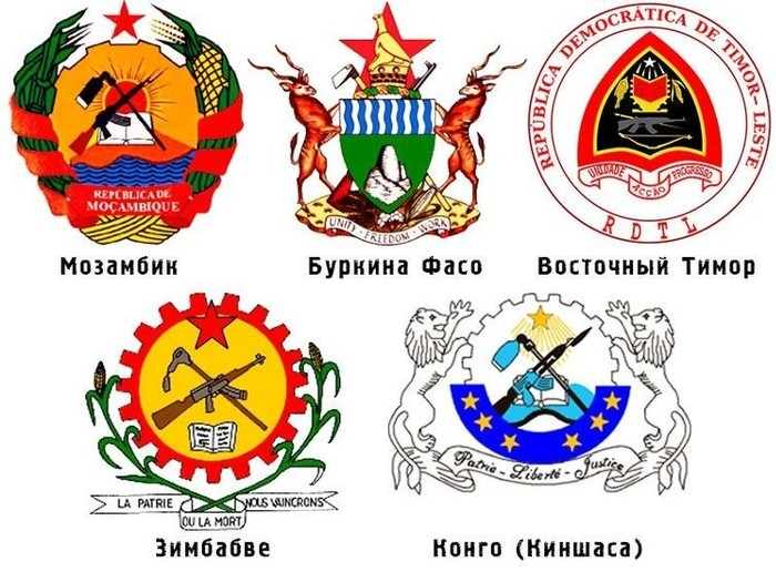 Автомат Калашникова на гербах  государств
