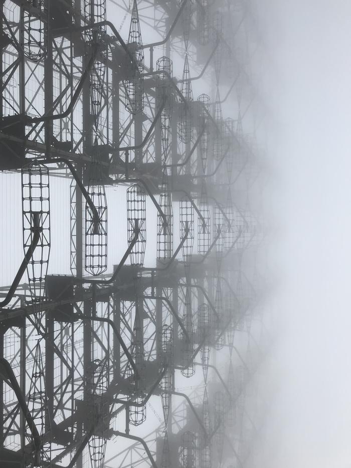 РЛС «дуга». 10 ноября 2018. Туман ЧЗО, РЛС Дуга, Фотография, Чернобыль, Длиннопост