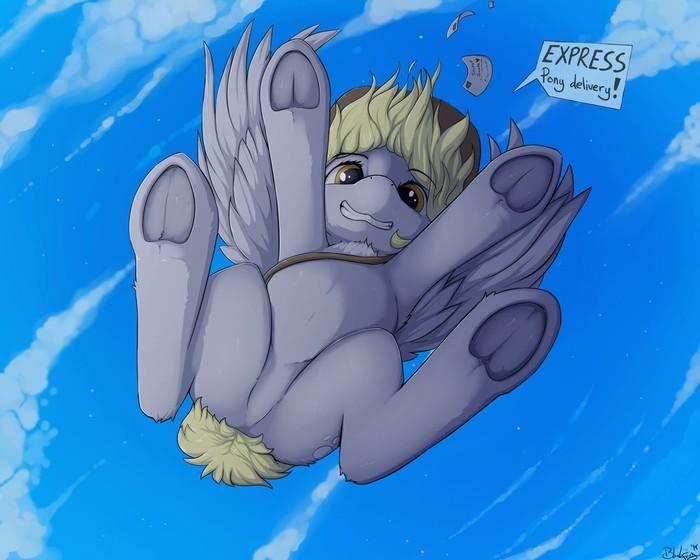 Экспресс пони доставка! My Little Pony, Derpy Hooves, MLP Edge