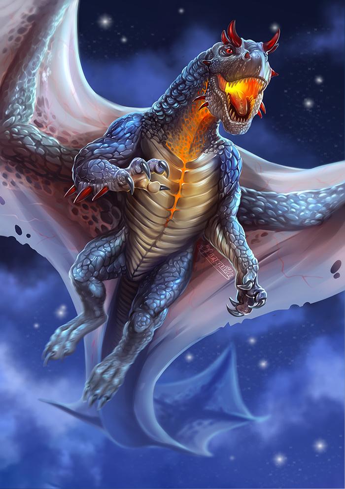 Драконы волшебного мира. Часть 1. Длиннопост, Дракон, Иллюстрации, Фантастические твари, Mary beasts, Фан-Арт, Цифровой рисунок, Гарри Поттер