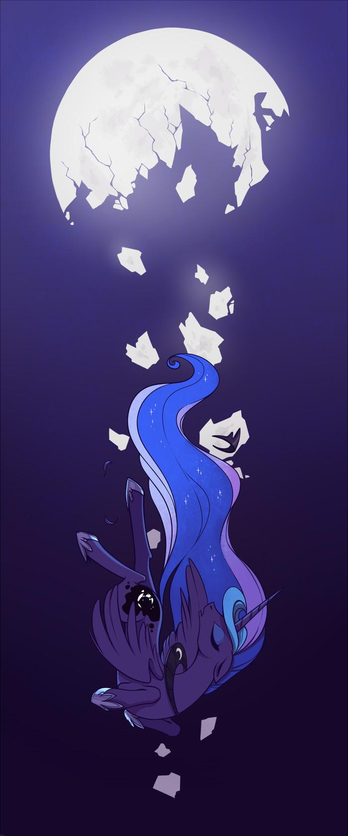 Broken Moon and Extinguished Sun My Little Pony, Princess Luna, Princess Celestia, MLP Sad, 28GoodDays, Длиннопост