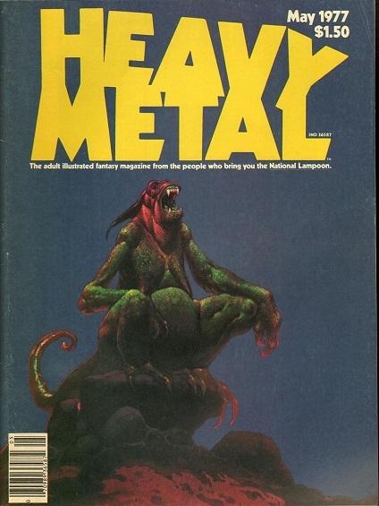"""Обложки """"Heavy Metal"""" Комиксы, Журнал, Обложка, Длиннопост"""