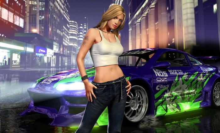 Девушки из Need fo Speed и их реальные прототипы Need for Speed, Игры, Девушки, Гонки, Длиннопост