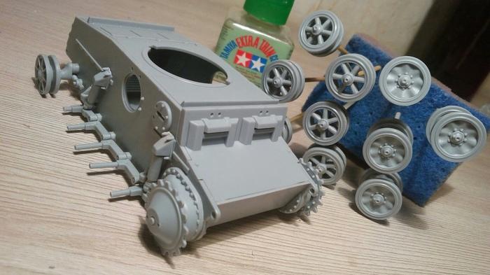 """Учусь рисовать эффекты ржавчины. Pz II Ausf. J от """"Арк Моделс"""" Аэрография, БТТ, Моделизм, Танки, Масштабная модель, Сборная модель, Сборка, Роспись, Длиннопост"""