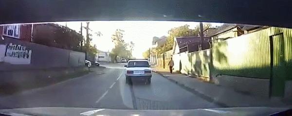 """""""Мне прямо надо, подвинься!"""" ДТП, Авария, Кропоткин, Subaru, Гифка, Видео"""