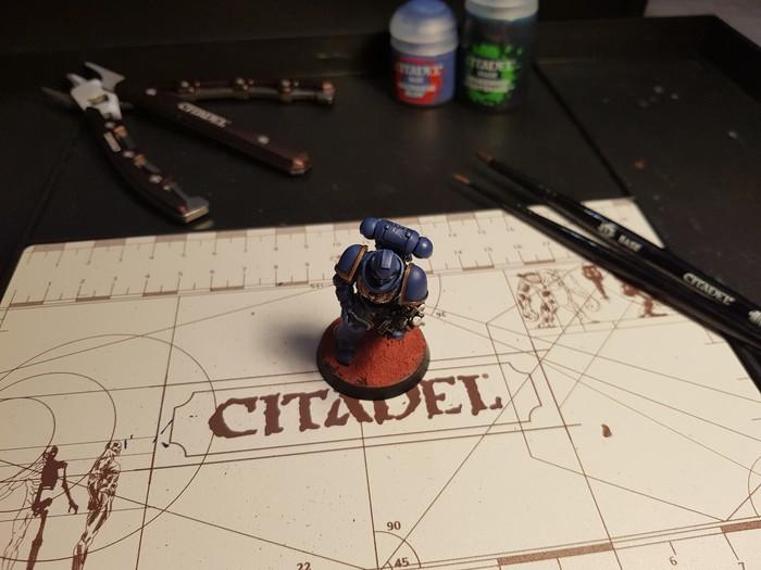 Мой первый покрас Покраска миниатюр, Warhammer 40k, Рукожоп, Длиннопост