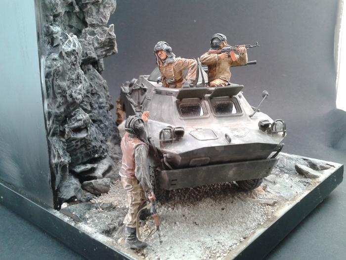 "Диорама ""На Саланге.Афганистан."" Бронетехника СССР, Война в Афганистане, Длиннопост"