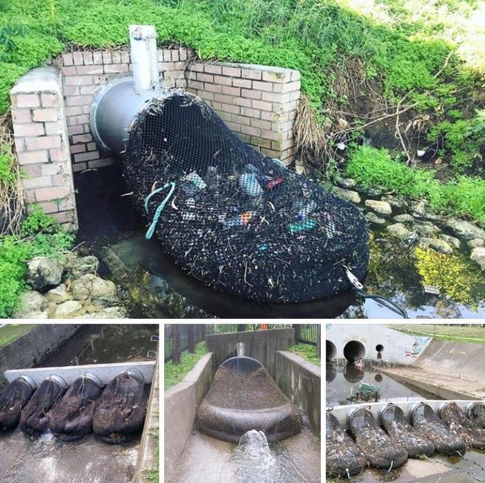 Эти сетки в Австралии предотвращают загрязнение водных объектов Австралия, Ливневка, Мусор, Длиннопост, Сеть