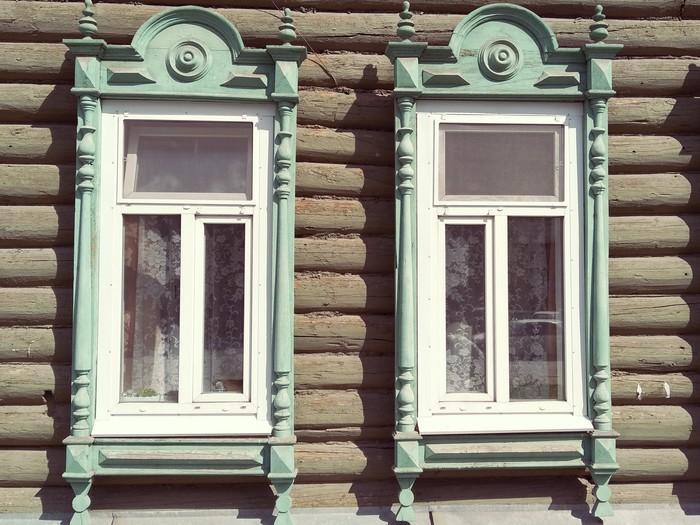 Томские наличники на окна. Окно, Томск, Деревянное зодчество, Длиннопост