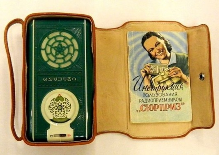 Портативный транзисторный радиоприёмник «Сюрприз» Сделано в СССР, История, Радио, Изобретения, Видео, Длиннопост