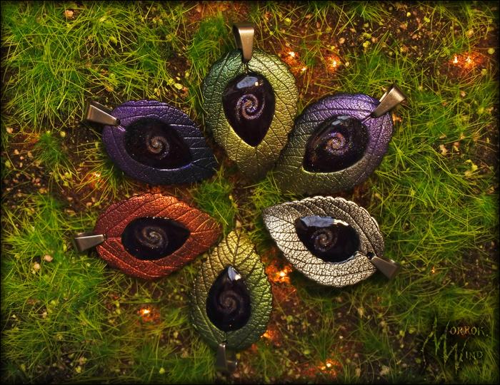 Листочки из полимерной глины с объёмными галактиками внутри Полимерная глина, Осенние листья, Видео, Длиннопост, Рукоделие без процесса