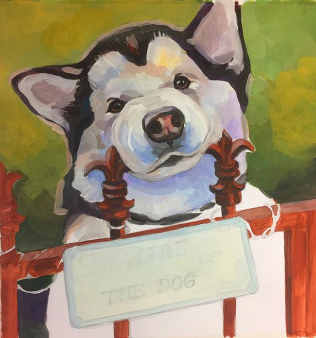 Остерегайтесь хороших мальчиков) Okta23, Животные, Собака, Творчество, Рисунок, Гуашь, Длиннопост, Анималистика