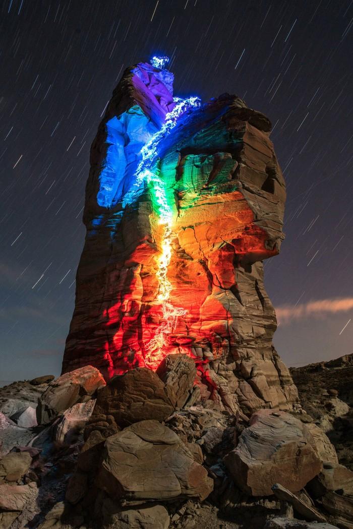 Скалолазание с led-подсветкой Reddit, Длинная выдержка, LED, Длиннопост