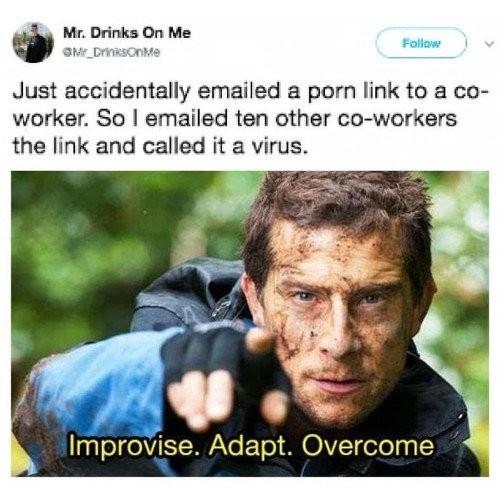 Это просто вирус Беар Гриллс, Выкрутился, Reddit, Идея, Twitter, Скриншот