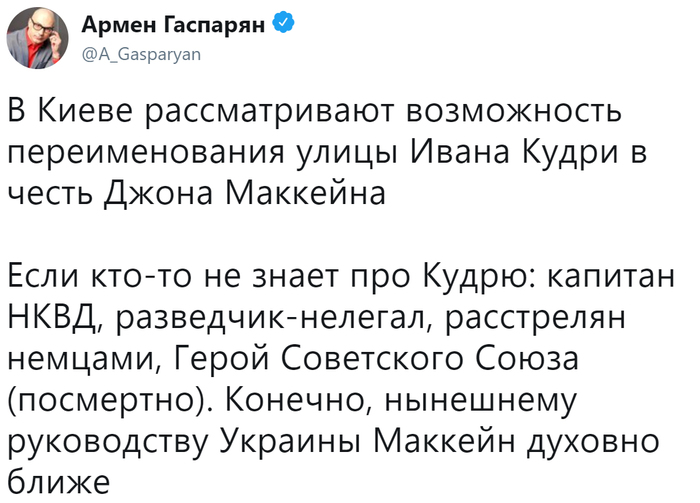 Руководству Украины Маккейн духовно ближе Общество, Политика, Украина, США, Фашизм, Маккейн, Армен Гаспарян, Twitter
