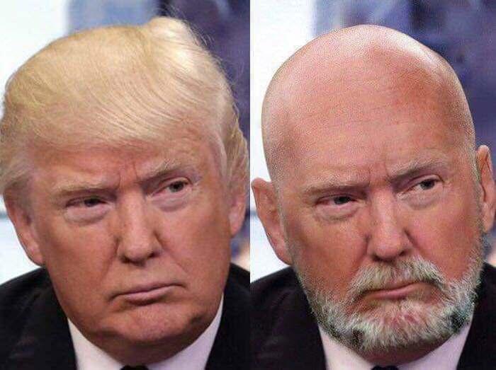 Альтернативный президент Трамп, Президент, Имидж, Борода, Волосы, Прическа, Альтернативная реальность
