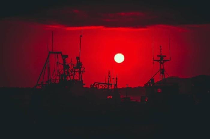 Рубиновый закат, Русский остров Владивосток, Закат, Русский, Остров