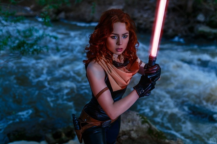 Mara Jade, Leia by Mickeyjedi, Arget Косплей, Star Wars, Mara Jade, Мара Джейд, Принцесса лея, Длиннопост