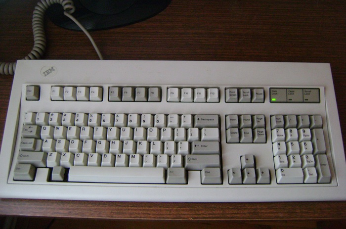 Клавиатура IBM Model M 1988 г Клавиатура, IBM, Длиннопост, Гифка, Раритет