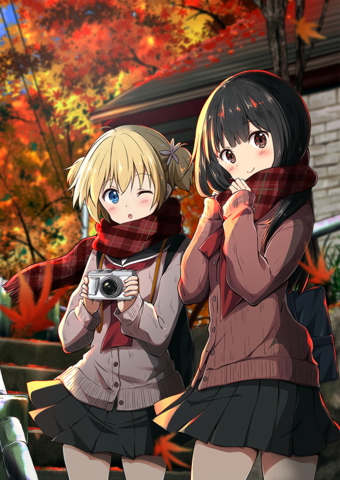 Anime art Осень, Anime Art, Anime Original, Моэ