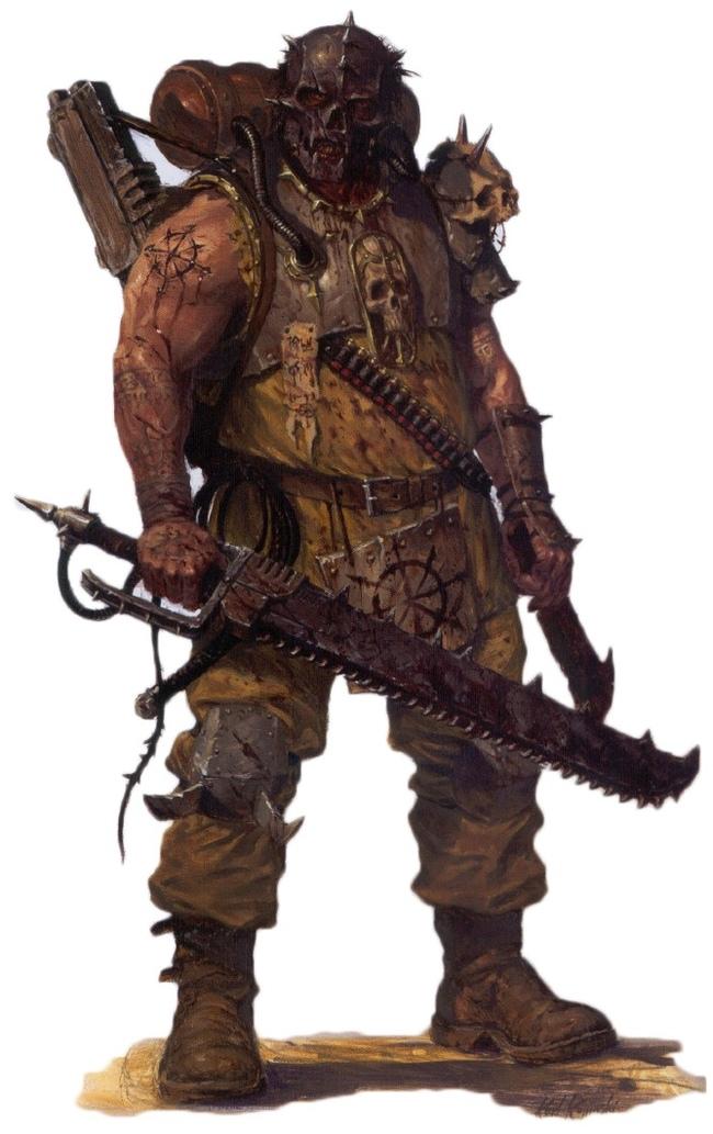 Хакон Мясник, враксианский силовик-еретик, принимавший участие в обороне сектора 59-47.