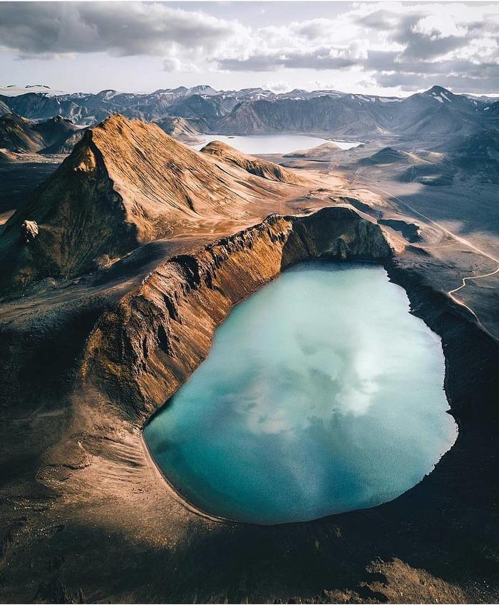 Ljtipollur Lake, Iceland Исландия, Природа, Ландшафт, Фотография