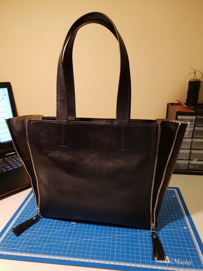 Красивая женская сумка из кожи своими руками. МК