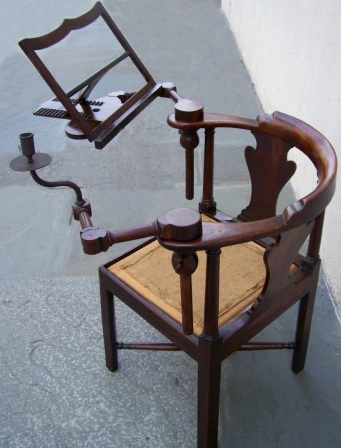 Стул для чтения с подсвечником, 1750