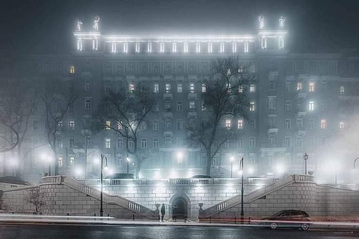 Владивосток мистический. Владивосток, Туман, Городские пейзажи