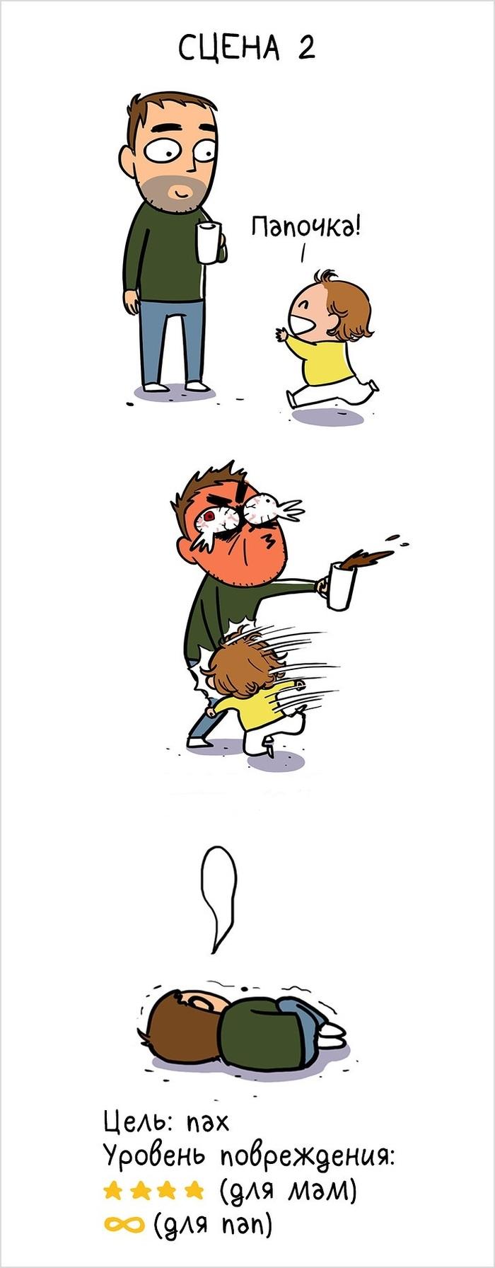 Мама показала в комиксах всю физическую боль родительства Отцы и дети, Воспитание детей, Боль, Комиксы, Длиннопост