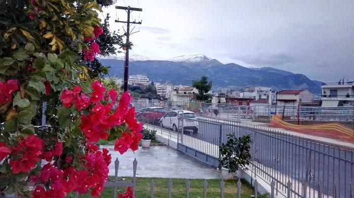 Мой город контрастов. Природа, Мобильная фотография, Мандарины, Горы, Контраст, Снег, Длиннопост