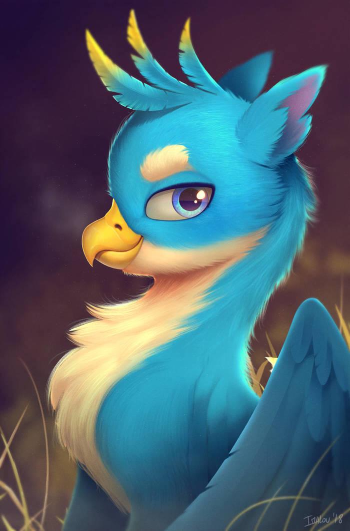 Этот грифон смотрит на тебя как на студента дружбы My Little Pony, Gallus, Ponyart