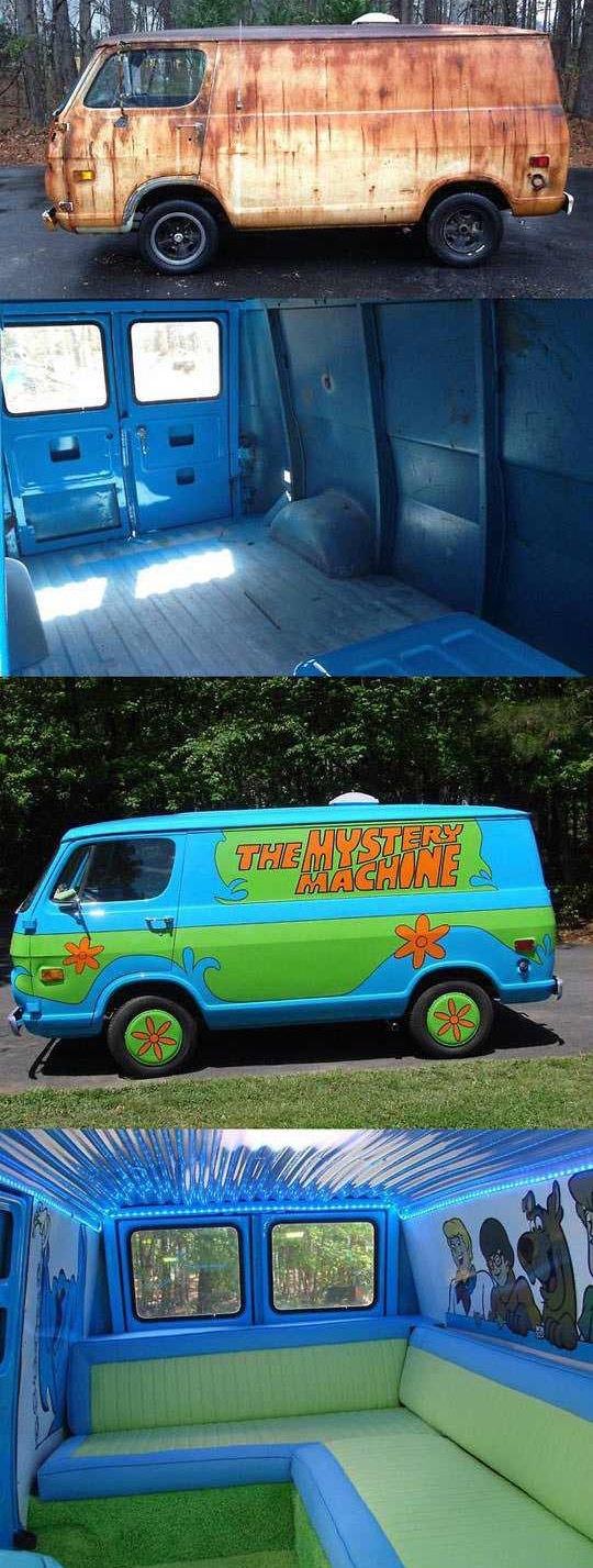 """Как недорого сделать свой """"party bus"""" с блекджеком и молчаливым Бобом. Мистическая машина, Скуби-Ду, Джей и Молчаливый Боб, Ремонт, Длиннопост"""