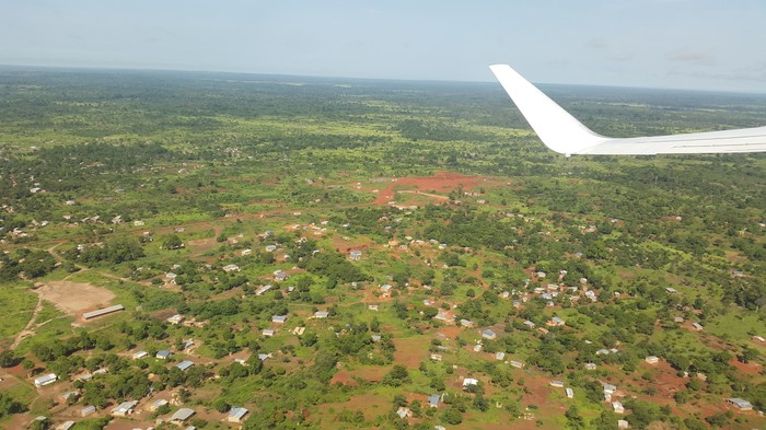 Центральная Африка Африка, Цар, Из окна самолета, Фотография