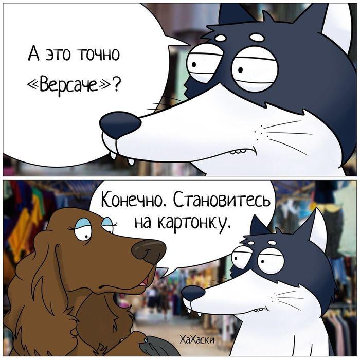Версаче ХаХаски, Комиксы, Анекдот, Рынок, Вещи, Жизненно