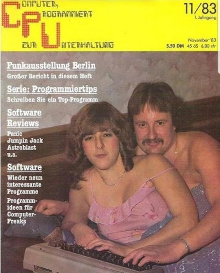 Немецкий журнал про ПК. Историческая обложка
