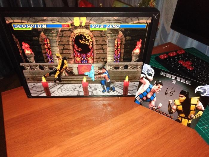Диорама по игре Mortal Kombat 3 Диорама, Компьютерные игры, Своими руками, Sega, Длиннопост